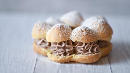 我的日常料理 第二季 女神节教你制作优雅甜蜜的法式甜点 巧克力花朵泡芙