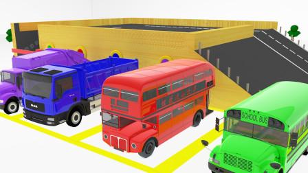 彩色停车场 4辆汽车在这里涂上喜欢的颜色