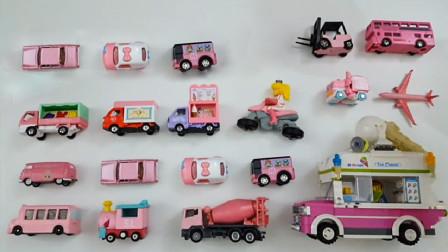 粉色迷你汽车巴士模型玩具展