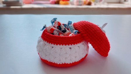 钩针编织,迷你收纳盒,恰到好处的小可爱花样钩法