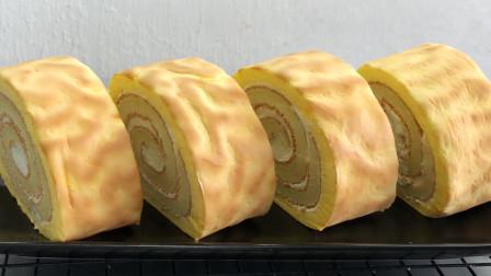 虎皮蛋糕详细做法,1碗面粉加4个鸡蛋,松软不回缩,比买的还好吃