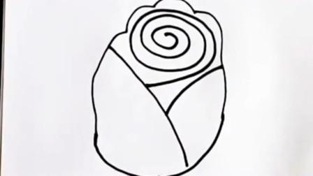 教你们一个画玫瑰花的技巧,现在买不到新鲜的玫瑰,可以送这个给女友!