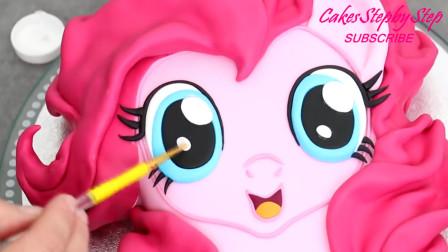 超美腻的彩虹小马蛋糕教程来啦!方法简单颜值高,学会送女儿吧!