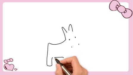 卡通小毛驴怎么画