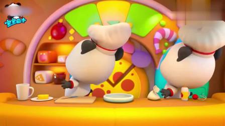 宝宝巴士美食总动员:奇奇做披萨,小伙伴不要急,香香披萨出炉啦