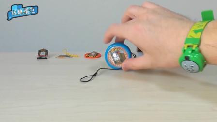托马斯手表和托马斯溜溜球,这个孩子拥有的托马斯周边玩具真多