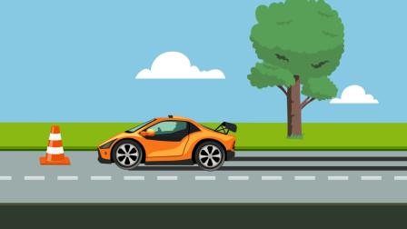 同学们,汽车制动需要距离不能完全说停就停,行走时一定要小心避让过往车辆