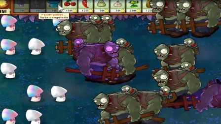 植物大战僵尸:可爱小蘑菇轻松制服僵尸!