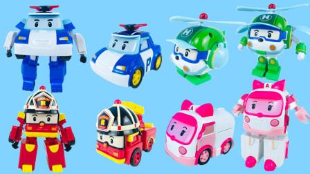 变形警车珀利警长机器人系列玩具,你喜欢哪一款?