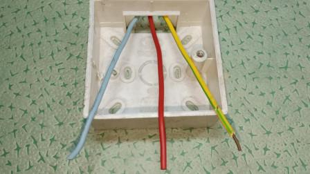 电工知识:插座接线盒耳朵坏了,插座根本无法安装,其实解决方法很简单
