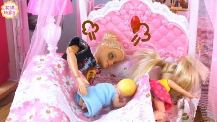 芭比小剧场:哄宝宝睡觉之芭比快崩溃了(2)