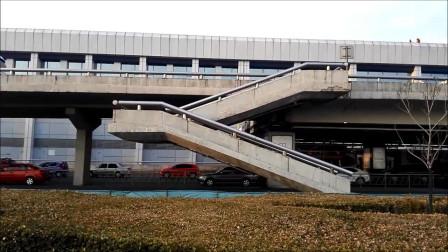 见过没有墩的楼梯吗?记录北京首都机场T1航站楼无墩室外楼梯