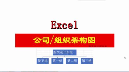 Excel组织架构图或人员阶梯图,学会不吃亏,方法简单,新手易学