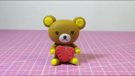 手工制作:可爱的小熊,超轻粘土DIY