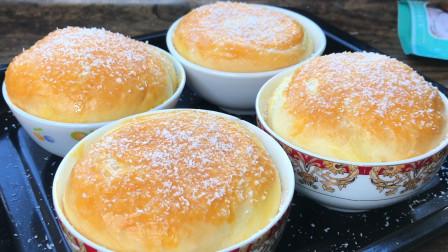 面包零失误做法,不用黄油,不用烤箱,松软香甜,比烤的还好吃