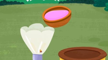宝宝巴士趣味游戏 帮助毛毛将奶油倒入裱花袋里面,制作美味蛋糕