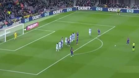 梅西连刷2记10分角任意球,他把任意球当点球! 不愧是真球王!