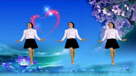 阿裙广场舞网红步子舞32步《语花蝶》歌甜舞美