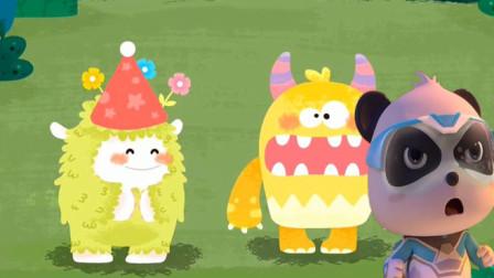 小怪兽想做蛋糕遇到困难怎么办?宝宝巴士