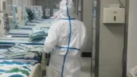 方舱医院病房清空了, 护士小姐姐太开心了,赶紧秀一波~~