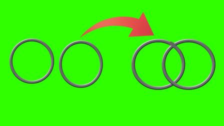魔术揭秘:两个完好的铁环互相穿越,其实方法很简单