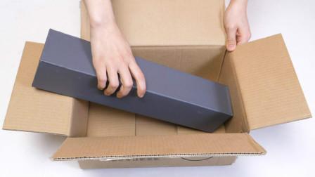 寄快递,物品太长纸箱放不下?教你一招,纸箱一秒就能变长