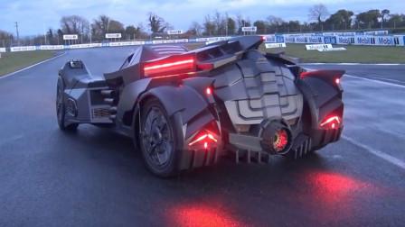 老外将800万兰博基尼改成蝙蝠战车,一脚油门踩下去,场面炫酷无比