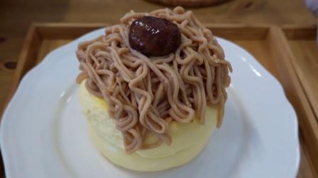 韩国街头小吃,绿茶舒芙蕾和栗蛋奶酥煎饼,看起来好诱人啊!