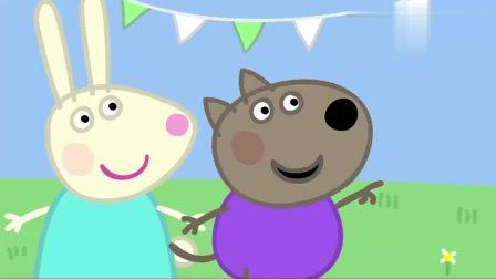 播放小猪佩奇动画片,在老师的帮助下变成了一只,笑得很开心