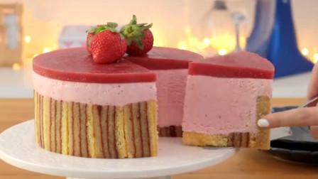 自己在家也能做的草莓蛋糕教程给你!简单易学颜值高,超美味哦