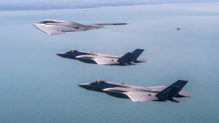 对假想敌发出警告,美军出动最强轰炸机,挂实弹飞越大洋上空
