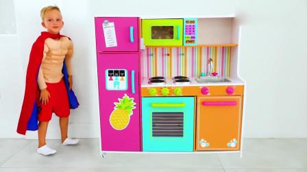 可爱小萝莉:萌娃小可爱的冰淇淋店开业啦!