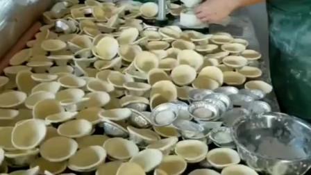 蛋挞皮的制作过程,传承了几十年的老手艺,很多人都莫名而来买!