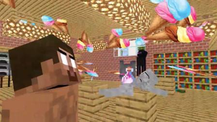 我的世界动画-怪物学院 vs 冰淇淋人-LoveMeMinecraft