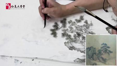工笔山水画教程:远山的画法
