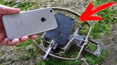 """iPhone的质量如何?牛人拿来一个""""捕鼠夹"""",结果你猜怎么着?"""