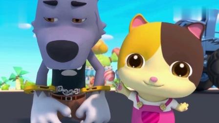 益智趣味儿歌:学习颜色,大灰狼抢小猫咪的棒棒糖