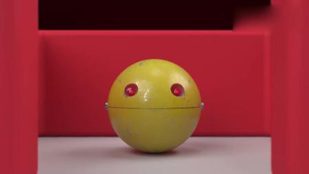 吃豆大作战:BB-8机器人vs吃豆人,谁先吃掉谁?