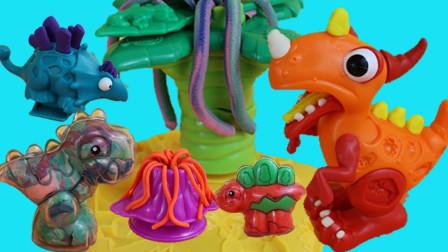 恐龙玩具大全世界:越看越好玩,恐龙玩具神奇手工橡皮泥套装!