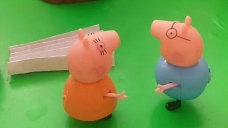 天气太热了,猪妈妈给爸爸做了小扇子,可是没有用啊