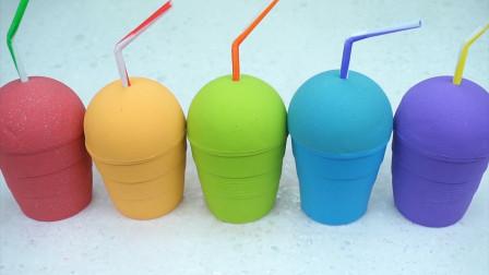 乐享形状乐园教你用彩泥手工制作七彩冰激凌杯
