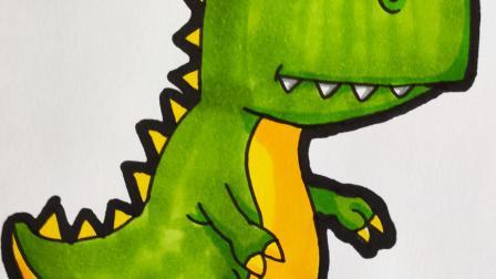 1分钟恐龙简笔画,超简单可爱的脊饰龙