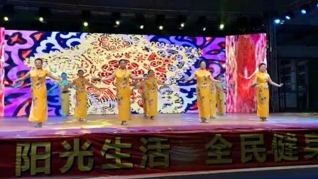 灵石县老年体协旗袍秀和谐中国