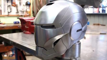 """用煤气罐打造""""钢铁侠""""头盔,看到成品我表示服气!"""