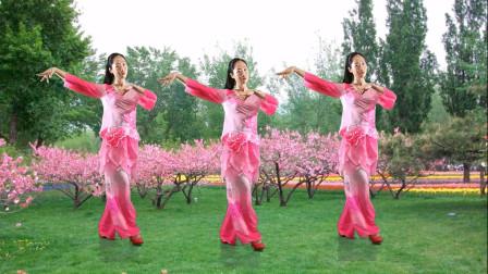 流行甜歌任妙音演唱《你像三月桃花开》广场舞,歌醉舞更迷人