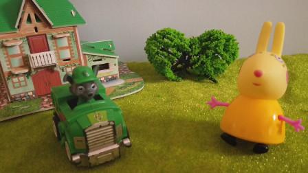 汪汪队真棒,灰灰和兔小姐一起完成工作,兔小姐夸赞汪汪队