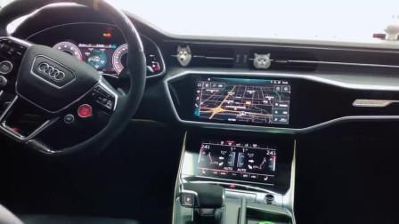 奔驰全新A7内饰,三块液晶显示屏的中控,科技感真的太强!