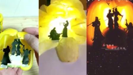 老外看中国:中国男子用食物重现历史经典场景,网友:浪费粮食!