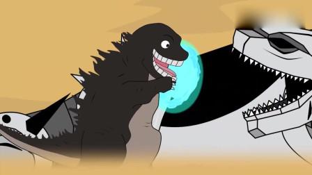 哥斯拉:哥斯拉让邪恶坦克得到进化 动漫特效