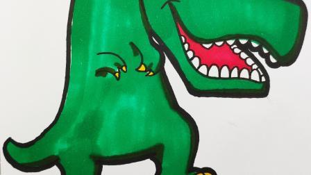1分钟教你学会画憨憨的马普龙,超萌恐龙简笔画